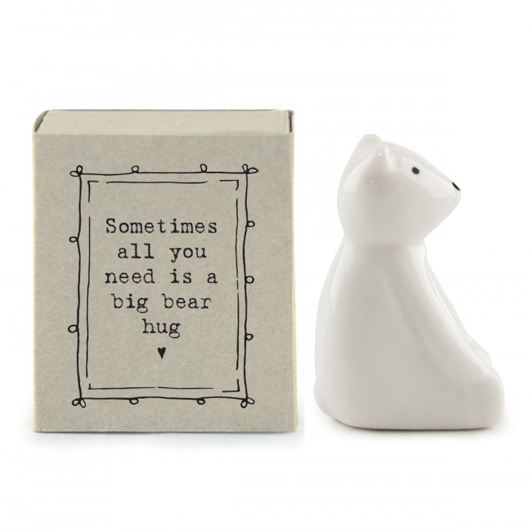 A Bear hug in a matchbox