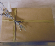 Gift Wrap with dried flowers
