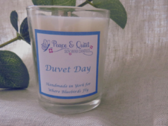 Duvet Day, wellbeing candle by Where Bluebirds Fly